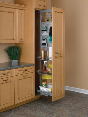 pantry cabinet utility pantry cabinet with revashelf uccr chrome tall cabinet pullout utility. Black Bedroom Furniture Sets. Home Design Ideas