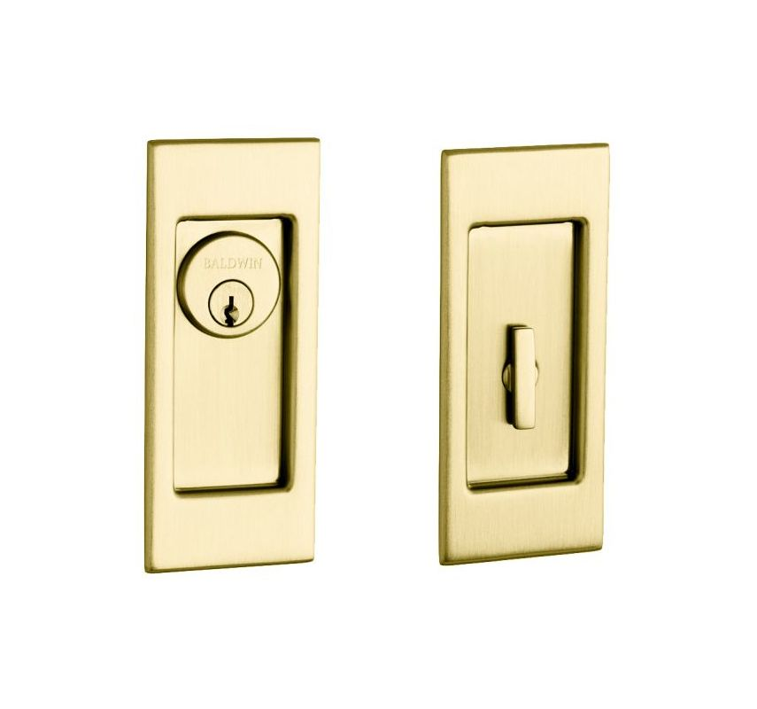 Baldwin pd006040entr satin brass santa monica keyed entry for Baldwin entrance sets