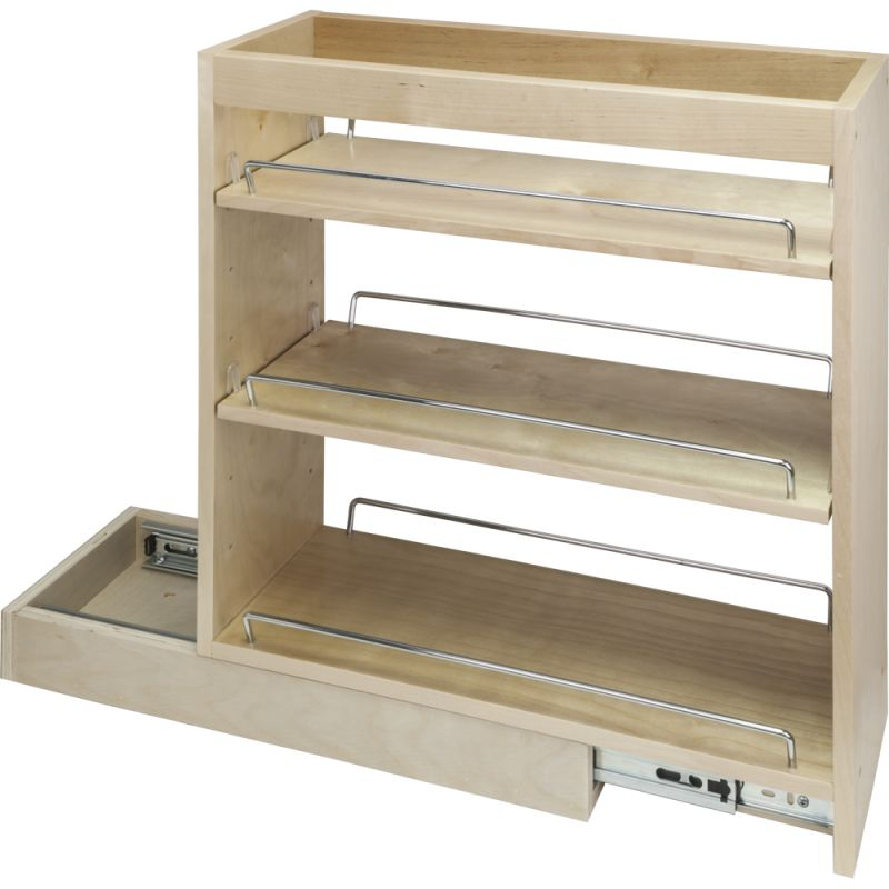 Hardware resources bpo10 natural 10 inch base cabinet for Adjustable shelves for kitchen cabinets