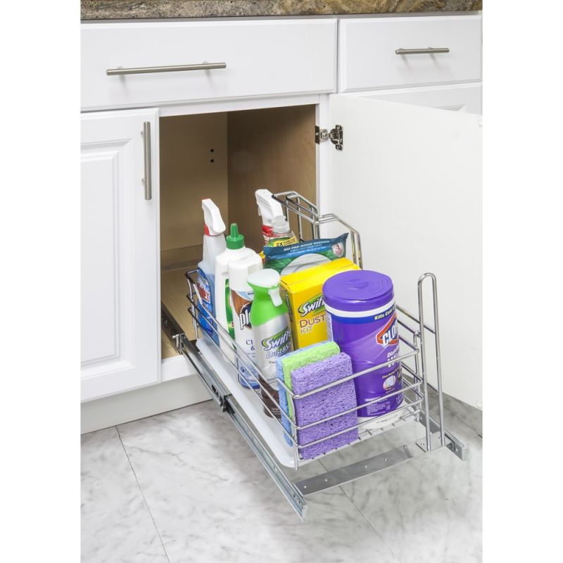 Hardware resources scpo r chrome 11 5 8 inch wide 19 11 16 for Kitchen cabinets 16 inches deep