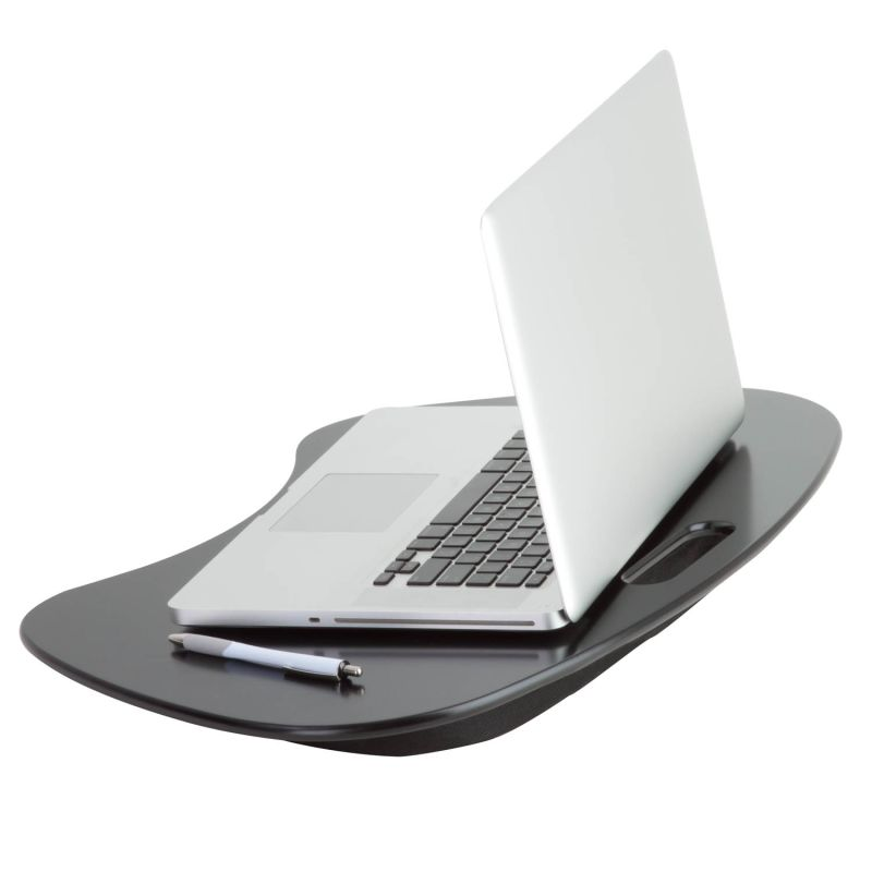 Honey-Can-Do TBL-02869 Black Laptop Stand Honey-Can-Do TBL-02869 Portable Laptop Desk with Handle