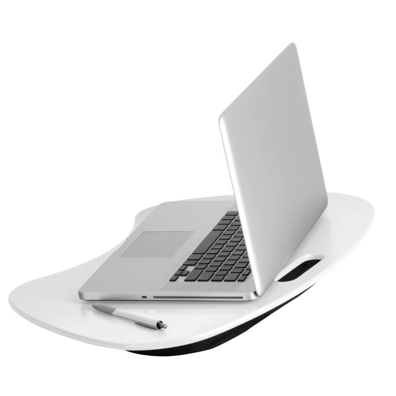 Honey-Can-Do TBL-06320 White Laptop Stand Honey-Can-Do TBL-06320 Portable Laptop Desk with Handle