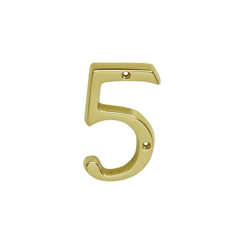 Ives sc23056605 bright brass 4 inch brass classic house for Classic house numbers
