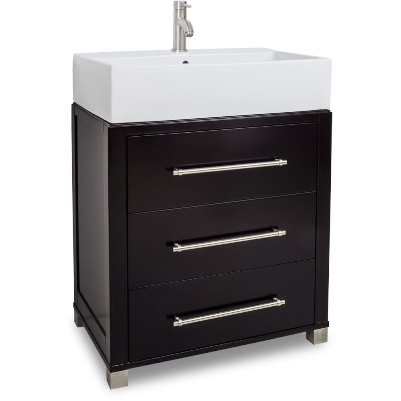 Jeffrey Alexander Van098 T Espresso Briggs Collection 28 Inch Wide Bathroom Vanity Cabinet With