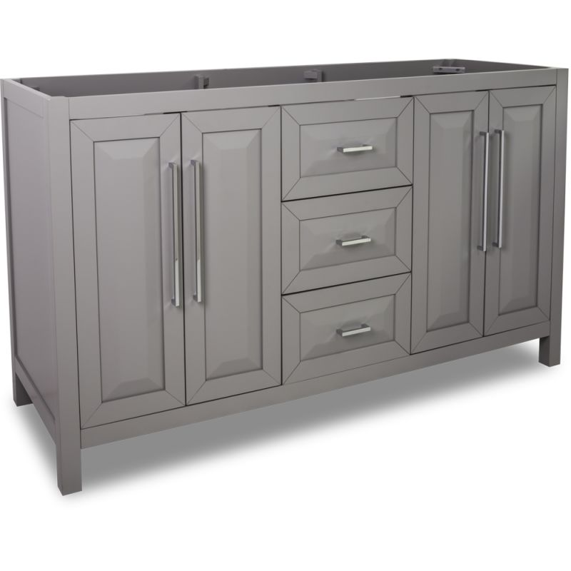 Jeffrey Alexander VAN100D-60 Grey Cade Contempo Collection 59 Inch Wide Bathroom Vanity Cabinet