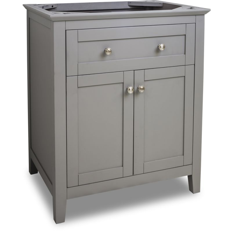 Jeffrey alexander van102 30 grey chatham shaker collection for Bathroom cabinets 30 inch