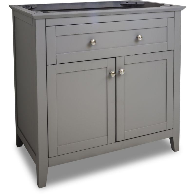 Jeffrey Alexander Van102 36 Grey Chatham Shaker Collection 36 Inch Wide Bathroom Vanity Cabinet