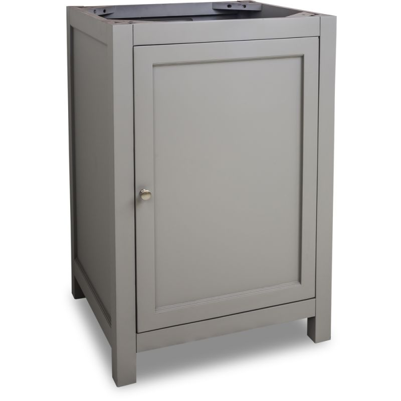 Jeffrey Alexander Vanthree Four Grey Astoria Modern Collection Four Inch Wide Bathroom Vanity Cabinet