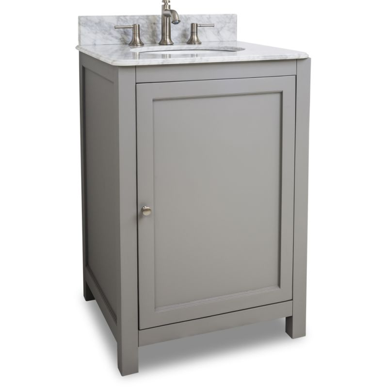 Jeffrey alexander van103 24 t grey astoria modern for Bathroom cabinets 25cm wide