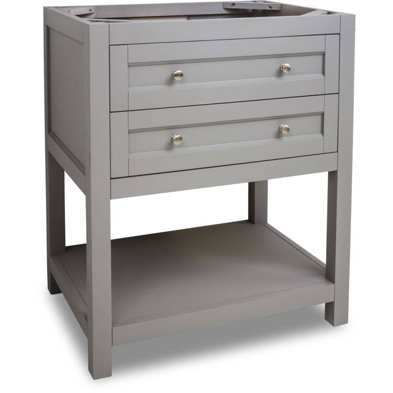 Jeffrey alexander van103 30 grey astoria modern collection for Bathroom cabinets 30 inch