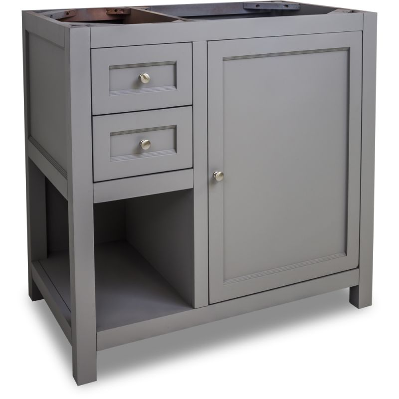 Jeffrey Alexander Vanthree Six Grey Astoria Modern Collection Six Inch Wide Bathroom Vanity Cabinet