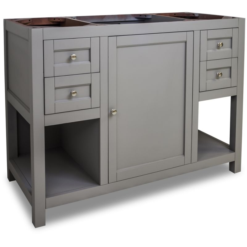 Jeffrey alexander van103 48 grey astoria modern collection for Bathroom cabinets 25cm wide