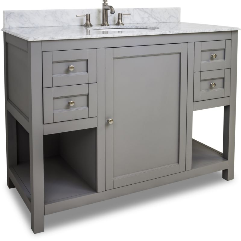 Jeffrey Alexander Van103 48 T Grey Astoria Modern Collection 48 Inch Wide Bathroom Vanity