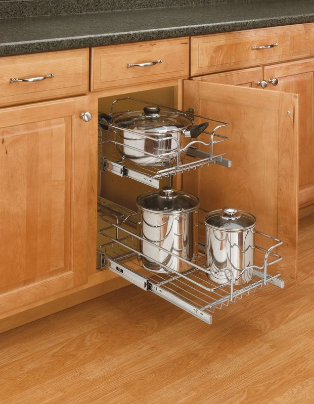 Rev A Shelf 5WB2 1222 CR Chrome Double Chrome Wire Basket