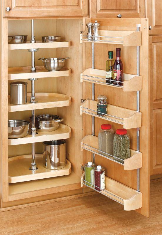 Rev A Shelf 4265 20 50 Natural Wood 20 Inch Wood D Shape