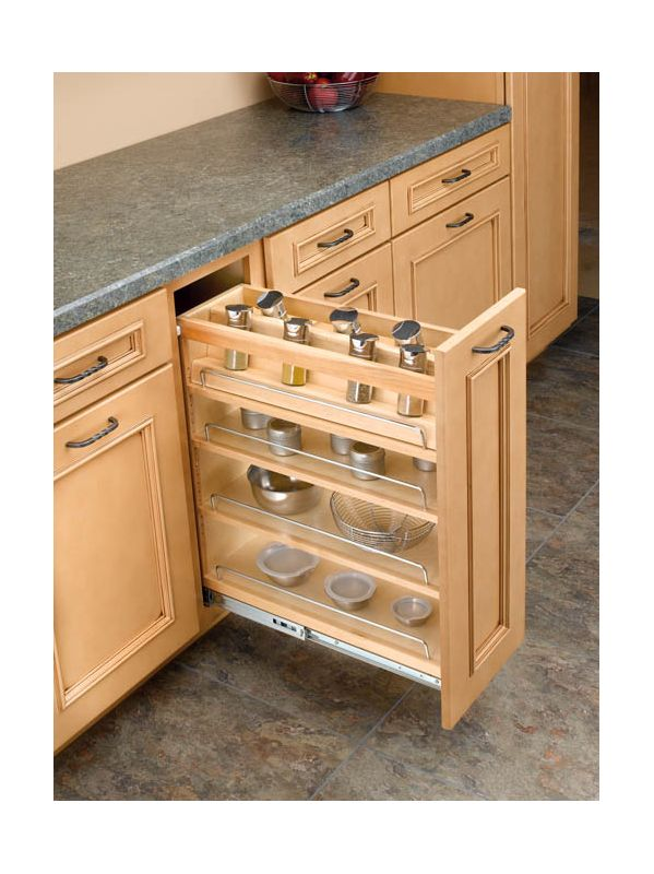 Rev-A-Shelf 448-08SC-SRI-1 Natural Spice Rack Rev-A-Shelf 448-08SC-SRI-1