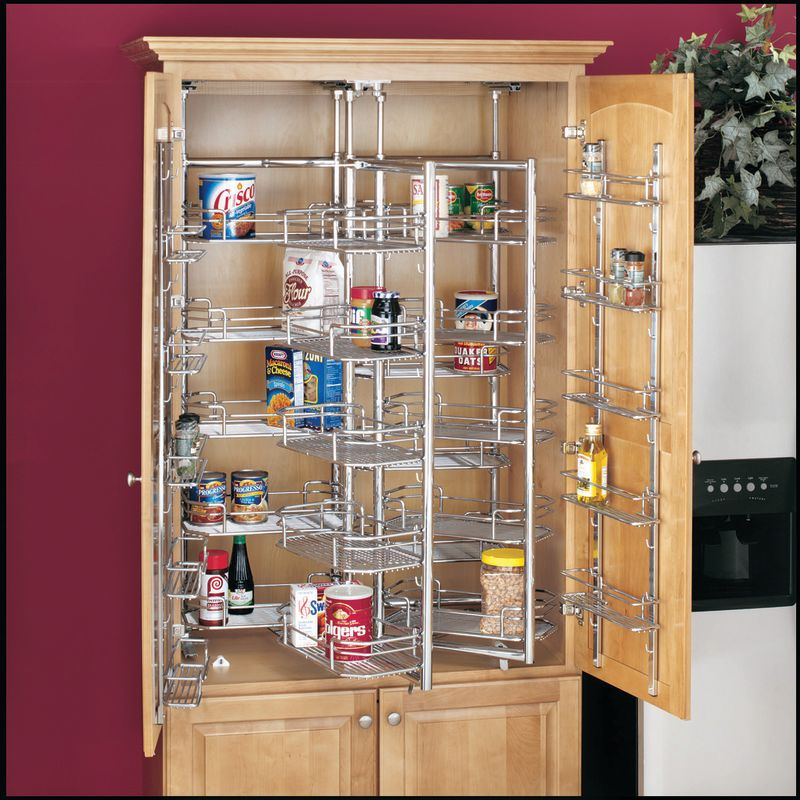 Rev A Shelf 5222 21cr Chrome 5222 Series Chef 39 S Roll Out Pantry With Door Baskets