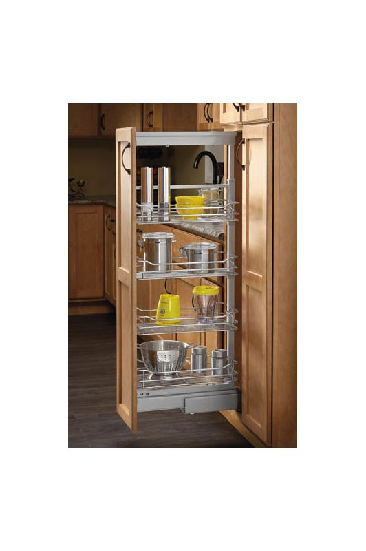 Rev A Shelf 5758 14 Cr Chrome 5700 Series 14 3 4 Inch Wide X 65 3 4 Inch Tall Five Basket Pull