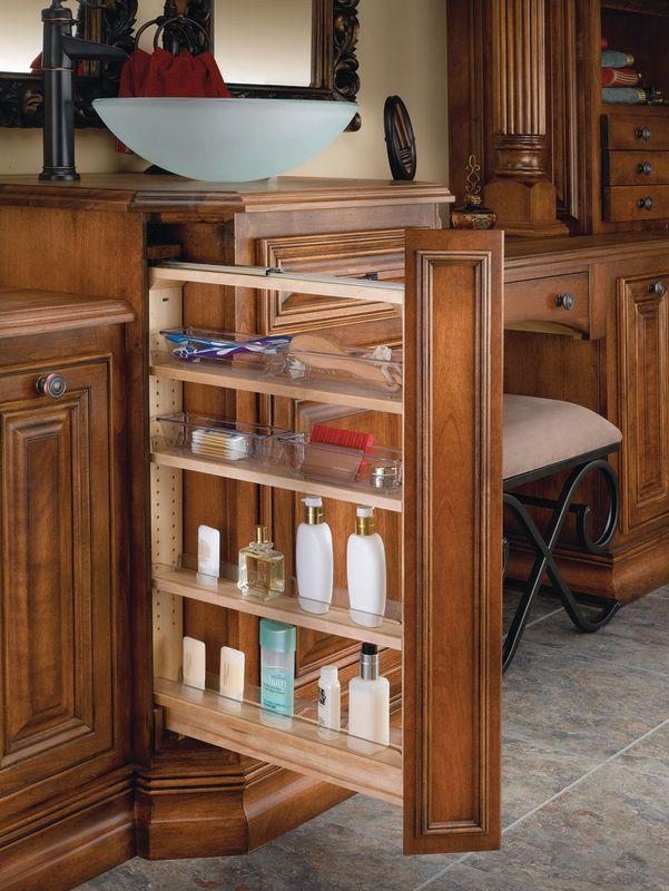 Pull out shelves for bathroom vanity