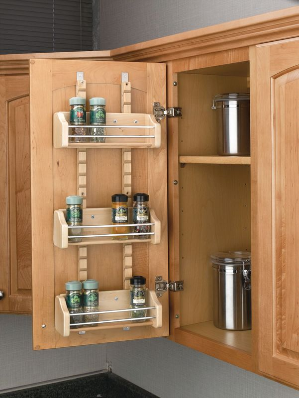 Kitchen Cabinet Spice Storage Mount Spice Rack With 3 Shelves For 15 Wall Cabinet