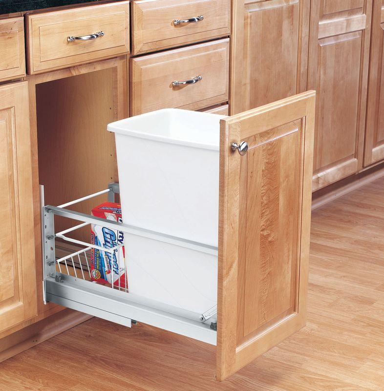 rev a shelf 5349 15dm 1 white 5349 series 35 quart pull. Black Bedroom Furniture Sets. Home Design Ideas