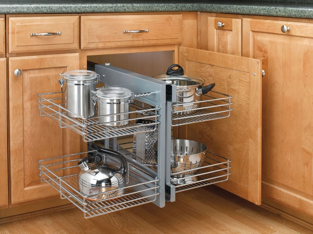 Rev a shelf 5psp 15 cr chrome 5psp series chrome blind for Kitchen cupboard options
