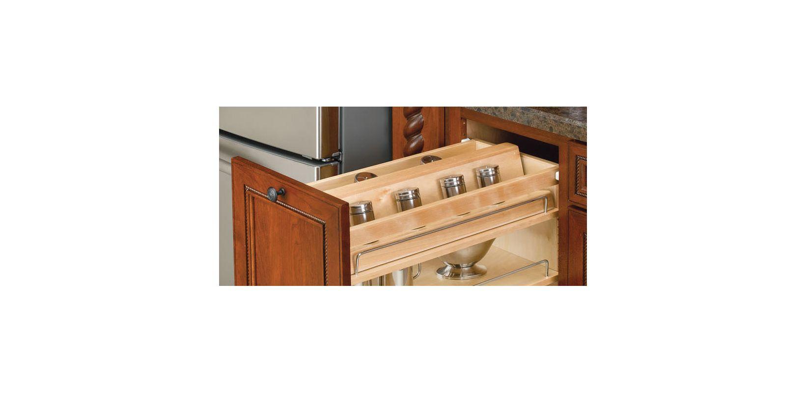 rev a shelf 448 sr8 1 natural wood spice rack for 448 bc. Black Bedroom Furniture Sets. Home Design Ideas