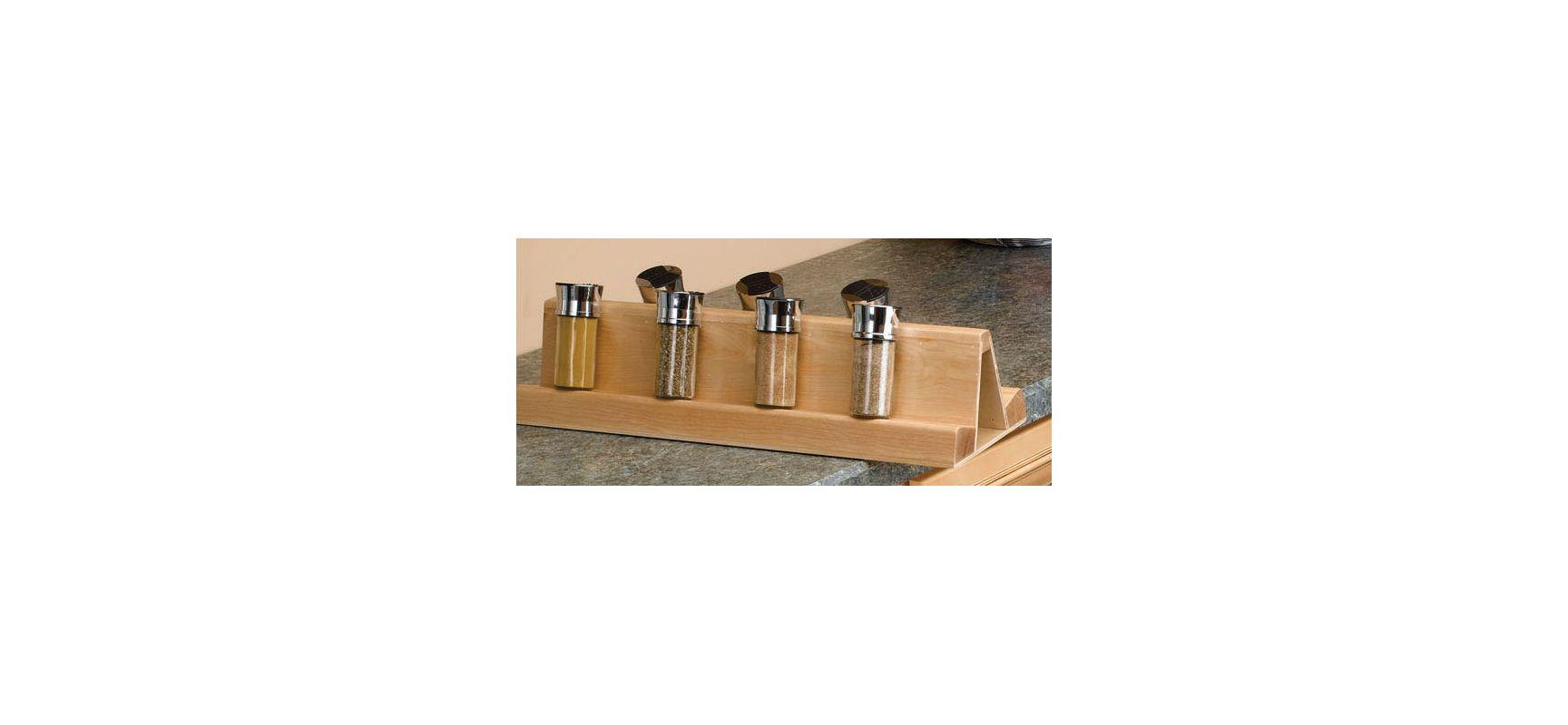rev a shelf 448 sr11 1 natural wood spice rack for 448 bc. Black Bedroom Furniture Sets. Home Design Ideas