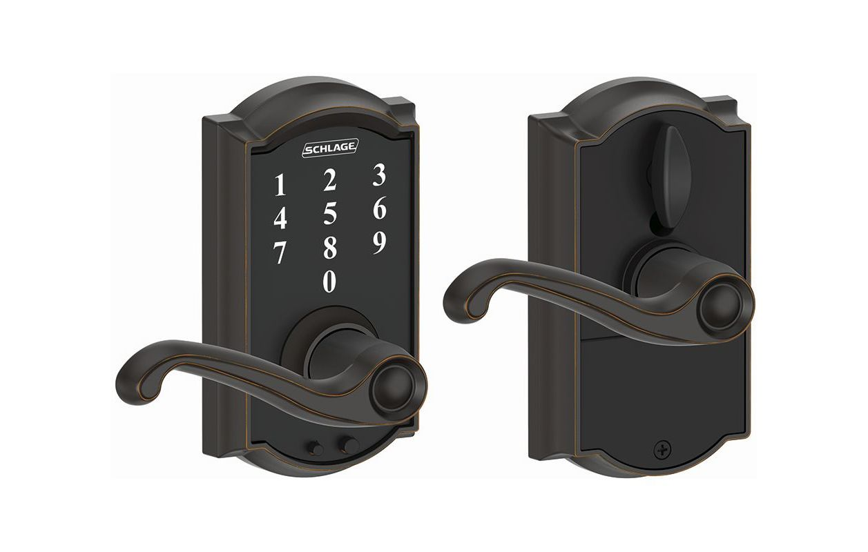 Schlage Fe695cam716fla Aged Bronze Camelot Touch Entry