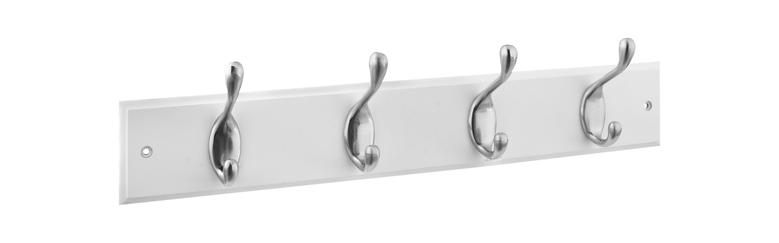 stanley home designs b8170snxwht satin nickel on white 18 inch long x