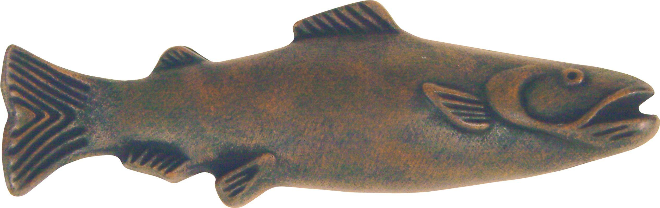Atlas homewares 2217 brn brushed nickel fish collection for Fish drawer pulls
