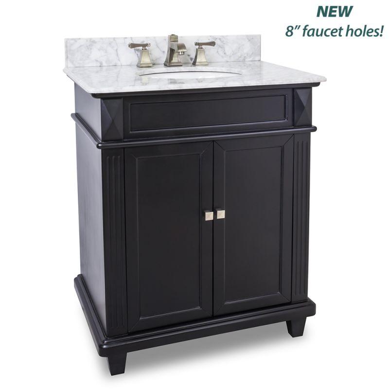 Elements VAN057 30 T MW Painted Black White Marble Douglas Collection 30 Qu