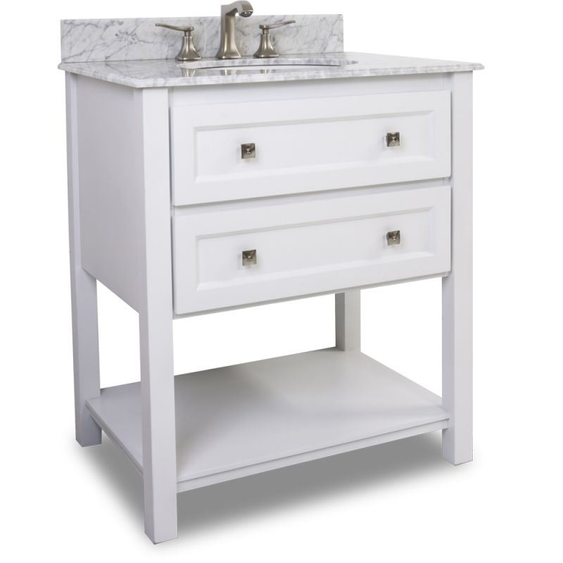 elements van066 t mw painted white adler collection 31 inch wide bathroom vanity cabinet with. Black Bedroom Furniture Sets. Home Design Ideas